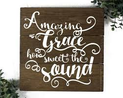 amazing grace wood sign christian wall art on large wooden scripture wall art with wood signs elegant signs