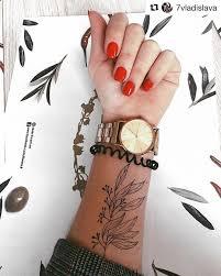 временная татуировка сет чёрних веточек черно белая