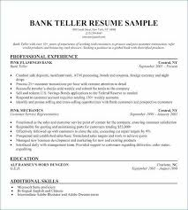 Bank Teller Resume Sample Magnificent Bank Teller Resume No Experience New Bank Teller Resume Skills New