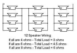 shavano music online speaker wiring loading examples not a very common set up but i have been asked how to wire 12 speakers many times