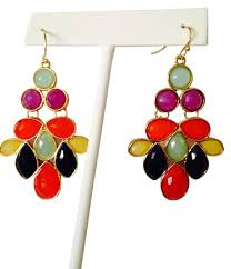 lighting gorgeous multi colored chandelier earrings 22 colorgold embellished by leecia nwot faceted 2250788 0 jpg