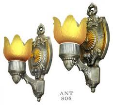 vintage lighting fixtures. antique wall sconces pair turn of the century rewired light fixtures ant806 vintage lighting x