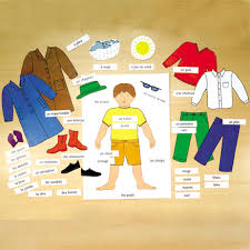 Buy Clothing French Vocabulary Magnetic Chart Tts