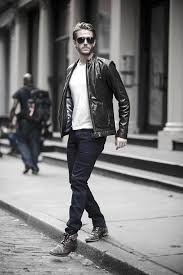 male fashion how to wear a leather jacket leather jacket outfits style ideas white t shirt