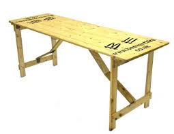 wooden trestle table hire 6 x 2