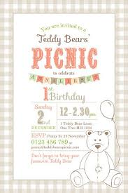invitation t printable custom birthday party invitation template teddy bears