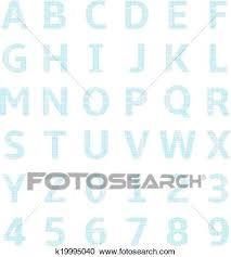 Uppercase Alphabet Graph Paper Clipart K19995040 Fotosearch