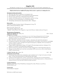 paralegal student resumes