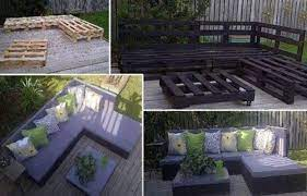 diy outdoor seating made from pallets