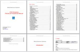 Operations Manual Template Microsoft Small Business Operations