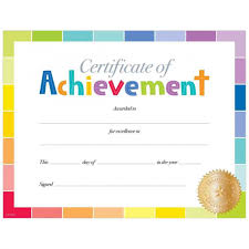 Achievement Awards For Elementary Students Blank Award Certificates Free Download With Printable Candy Awards