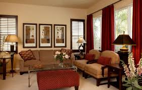 ... Living Room Marvellous Home Decorating Ideas Featuring Brown Walls  Paints Scheme Together With ...