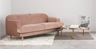 pink couches for bedrooms. A 3 Seater Sofa, In Vintage Pink Velvet Couches For Bedrooms