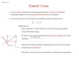 a rate equation that allows determination of the conduction heat flux