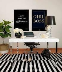 Black and white office design Futuristic Glamorous Home Office girlboss Black Office Desk White Office Decor Corporate Office Decor Apcconcept 466 Best Home Pink Gold Office Images Home Office Decor