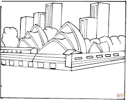 Small Picture Sydney Opera House coloring page Free Printable Coloring Pages