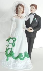 Shamrock Bride And Groom Wedding Cake Topper Or Figurine House Of