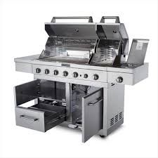Simple Kitchenaid 5 Burner Gas Grill Stainless Steel Dual Fuel From With Ideas