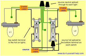 wiring two switches from one power source facbooik com 2 Lights One Switch Diagram two switches control two lights electrical pinterest one switch 2 lights wiring diagram