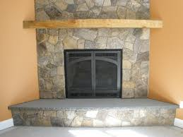 fireplace projects with thin natural stone veneer fireplace stone facing
