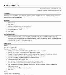 Resume For Nanny Extraordinary Best Nanny Resume Example LiveCareer