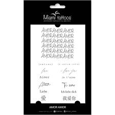 переводные тату Amor Amor 1 лист 10см15см Miami Tattoos купить цена фото видео доставка