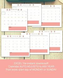 Printable School Year Calendars Image 0 Any Year Calendar Template School Year Calendar