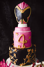 pink power ranger party erfly cake
