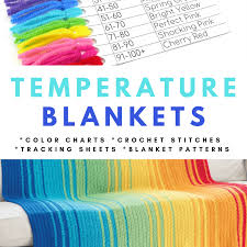 Temperature Blankets Crochet Patterns Color Charts And