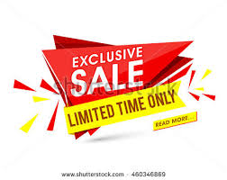 paper flyer exclusive sale limited time only creative stock vector 460346869