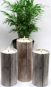 diy dollar crafts dollar s decor projects rustic wood candle holders