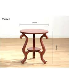 end tables round wooden end table self contained solid wood tea antique old furniture cafe