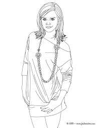 Coloriages Colorier Emma Watson Collier Fr Hellokids Com