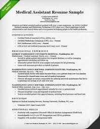 Medical Assistant Resume With No Experience Perfect Medical