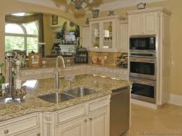 Beautiful Off White Country Kitchen Antique Cabinets 06 Kitchendesignideasorg To Concept Design