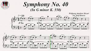 Symphony No. 40 In G minor KV. 550 - Wolfgang Amadeus Mozart, Piano - video  Dailymotion