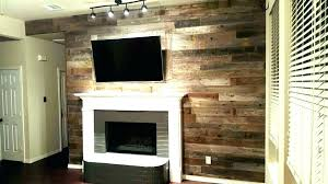 barn wood fireplace reclaimed wall accent protection above fixer upper o65