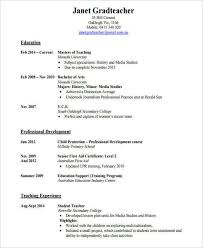 Teaching Resumes 42 Teacher Resume Formats
