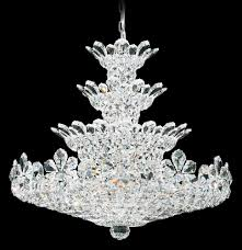 trilliane 30 light 110v chandelier in silver with clear spectra crystal