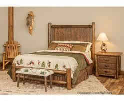 Mountain Bedroom Decor Cedar Log Bed With Barnwood Panel