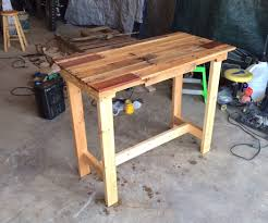 How to build a simple table Sliding Pallet Table Instructables Pallet Furniture