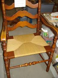 newly woven paper rush seat