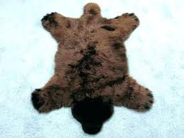 fake bear skin rug with head fake bear skin rug with head faux for nursery pattern