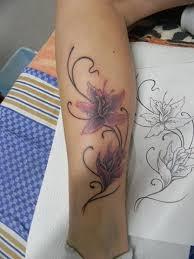 Tetování Kytky Na Lýtku Tetování Tattoo