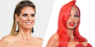 how to turn heidi klum s jessica rabbit costume into an actually wearable beauty look