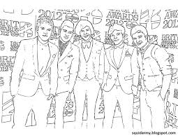 One Direction Printable Coloring Pages Coloring Home