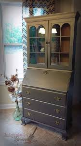uniquely grace jasper cabinets secretary desk furniture flip with chalk paint and shimmer