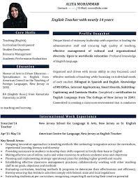 Resume For A Teacher Educator Resume Manqal Hellenes Co Teacher