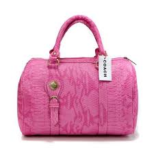 Coach Embossed Medium Pink Luggage Bags DEI Give You The Best feeling!