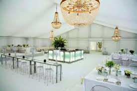 chandeliers in a marquee wedding decorations